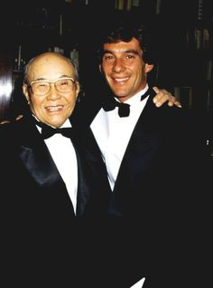 Ayrton Senna e Soichiro Honda