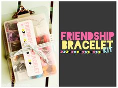 Gifts For Girls Diy Friendship Bracelets Super Ideas Homemade Kids Gifts, Diy Gifts For Kids, Homemade Christmas Gifts, Diy For Girls, Crafts For Teens, Gifts For Girls, Girl Gifts, Christmas Ideas, Diy Friendship Bracelets Kit