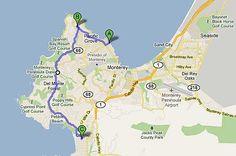 De Monterey a Carmel pela 17-Mile Drive