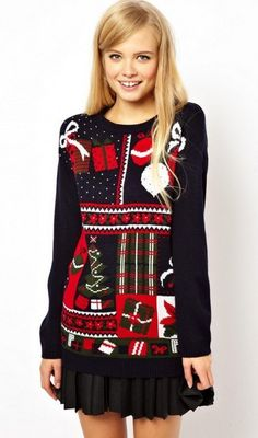 b1b1c2cd7b oversized aztec knitted Christmas jumpers for you