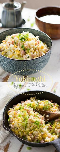 Yakimeshi-Japanese-Fried-Rice the real japan, real. Rice Recipes, Asian Recipes, Cooking Recipes, Healthy Recipes, Ethnic Recipes, Japanese Food Recipes, Authentic Japanese Fried Rice Recipe, Recipes Dinner, Japanese Food Healthy