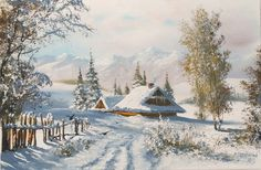 We present: Winter in Podkarpacie - Marek Szczepaniak. One of the many paintings by Marek Szczepaniak. Nature Photography Tips, Ocean Photography, Peace Painting, Forest Sunset, Art Thomas, Snowy Trees, Magical Forest, Winter Scenery, Winter Beauty