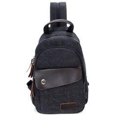 369cec855d U-TIMES Unisex 3 Way Multipurpose Canvas Chest Pack Double Shoulder Bags  Unbalance Backpacks