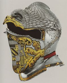 Desiderius Helmschmid work cc. 1513–1579. Charles V. helmet.