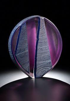 Ethan Stern: Treeform, 2014; 16.5 x 15 x 4 inches; blown and wheel-cut glass