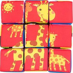 Soft Cloth Cube Stackable Puzzles
