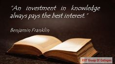 An Investment in ‪Knowledge‬ always pays the best interest !!