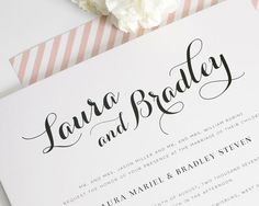 Wedding Save the Date Card in Black and White with Elegant ...