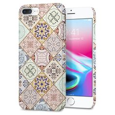 Husa slim iPhone 7 Plus model Arabesque Spigen Thin Fit - TotalMobil Iphone 8 Cases, Iphone 8 Plus, Samsung, Apple Iphone, Fitness, Design, Seo, Film