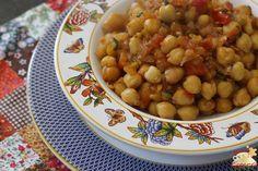 Grão de Bico Refogado com Tomates Maduros