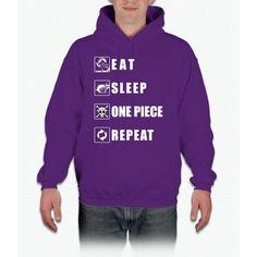 Eat Sleep One Piece Repeat Twenty One Hoodie