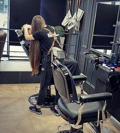 Girls Short Haircuts, Short Girls, Long Hair Cuts, Long Hair Styles, Hair Barber, Face L, Super Long Hair, Beautiful Long Hair, Barber Shop