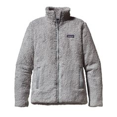 This deep-pile polyester fleece jacket, with simple style lines and contoured seams in the back for a refined look and fit, has a tall collar and cozy handwarmer pockets.