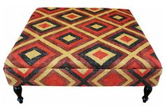 I just bought this Kilim Upholstered Ottoman as a child-safe coffee table :)