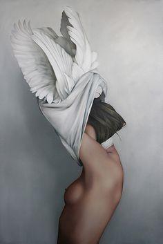 Swan Girl undressing