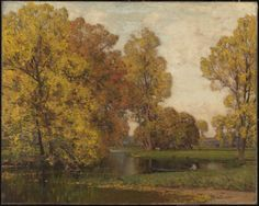 Giclee Print: Golden Autumn by Sir Alfred East : Spring Landscape, Beach Landscape, Tate Gallery, Tate Britain, Autumn Scenes, Autumn Painting, Winter Scenery, Landscape Paintings, Giclee Print