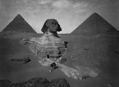 A partially excavated Great Sphinx of Giza, late 19th century