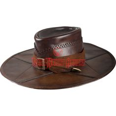 Brown Leather Witch Hunter Hat - MCI-3074 from Dark Knight Armoury