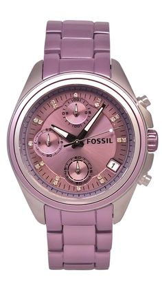 Violet-Fossil Women's Boyfriend Watch.