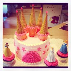 Easy Princess Birthday Cake Party Pinterest Princess castle