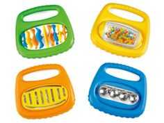 Little Hands Music Makers - All 4 specially designed plastic instruments have a rounded, easy-grip handle. And they're so easy to play, even the smallest children can get into the act!