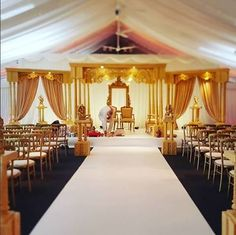 One of our beautiful setups for one of our weddings. #IndianWedding