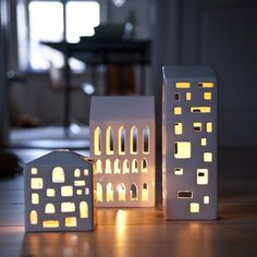 Kahler Urbania Light Houses. These are just beauties, especially the three storey gothic arched chapel-esque house.