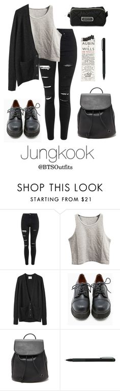 """""""School with Jungkook"""" by btsoutfits ❤ liked on Polyvore featuring Topshop, La Garçonne Moderne, Sixtyseven, Forever 21, IDEA International, Marc by Marc Jacobs, women's clothing, women, female and woman"""