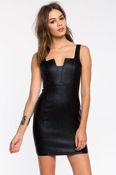 Slick Shine Bodycon Dress