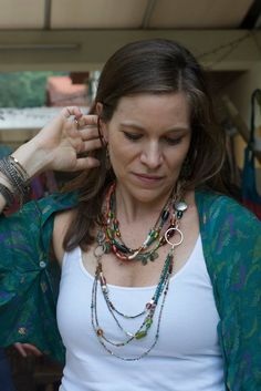 Boho chic necklace found at www.villageartisan.com Love this hand made fair trade look!