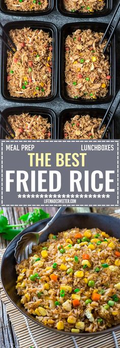 Absolutely the BEST Chinese Fried Rice - the perfect easy weeknight dish. With the most authentic flavors! My father was the head chef at a top Hong Kong Chinese restaurant and this was his specialty! So delicious and way better than any takeout! Plus a step-by-step video! Make it on Sunday for weekly meal prep for or leftovers are great for school.lunchboxes or work lunch bowls.