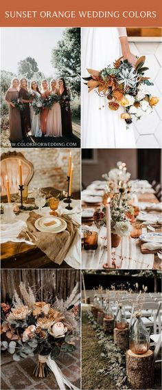Sunset Dusty Orange Wedding Color Ideas for Fall