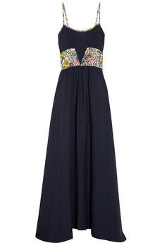 Band of Outsiders Printed silk crepe de chine maxi dress | THE OUTNET