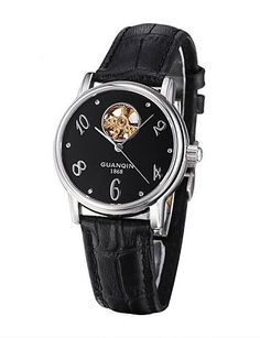 GUANQIN Frauen Uhr High-End-Auto-mechanischen Lederband Uhr mit Pfirsichherz hohlen Gravur - http://uhr.haus/weiq/guanqin-frauen-uhr-high-end-auto-mechanischen-uhr