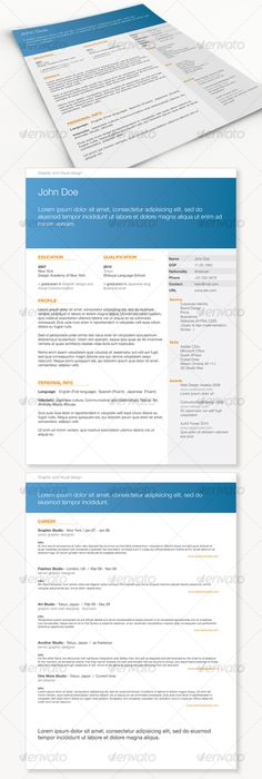 GD Professional Resume Set 01 Paragraph, Icons and Adobe