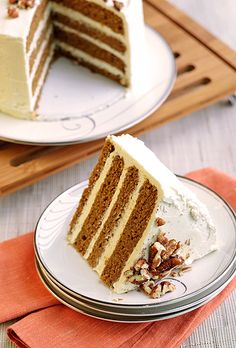 Sweet Potato Cake with Paleo White Chocolate Frosting - Plated with Style