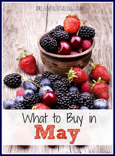 What to Buy in May- here's a list of things you should be watching out for- stocking up on- and grabbing for the month of May to save $$$  #moneysaveways  #savingstips