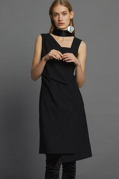 Appointed Dress - Black Minimal Beauty, Aw17, Winter White, Dress Black, Luxury Fashion, Dressing, High Neck Dress, The Incredibles, Collection