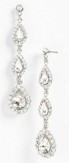 Oh so glam. Teardrop crystal earrings.