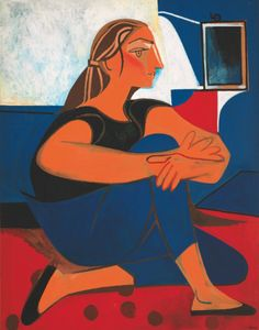 """Francoise Gilot """"Etude Bleue"""", no date Pablo Picasso, Post Impressionism, Impressionist, Francoise Gilot, Female Painters, Art Français, Figurative Kunst, Art Moderne, French Artists"""