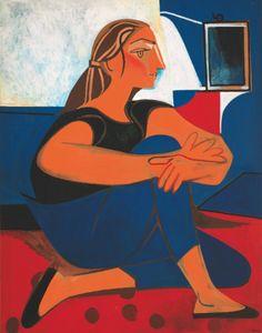 "Francoise Gilot ""Etude Bleue"", no date Pablo Picasso, Post Impressionism, Impressionist, Mara Mara, Picasso Prints, Francoise Gilot, Modern Art, Contemporary Art, Inspiration Art"