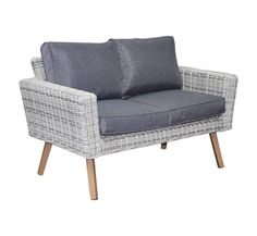 Andalucia 2-zitsbank wit grijs  - AVH Outdoor Tuinmeubelen Love Seat, Couch, Furniture, Home Decor, Settee, Decoration Home, Sofa, Room Decor, Home Furnishings