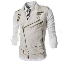 Men's Fashion Leisure Vest Leather Outerwear - USD $ 47.99