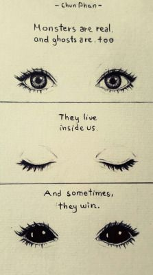 drawing eyes quotes creepy Sketch monster ghost Stephen King pencil drawing