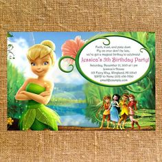 Customized Tinkerbell Birthday Party Invite  by CK5Designs1, $8.75