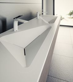 The latest in Le Projets lineup of refined architectural finishes, the Monolit basin series brings geometric style to the modern bathroom. Designer: Alex Vitet of le_projet_brandFrom yankodesign For more lordd_products . Lavabo Design, Sink Design, Modern Sink, Modern Bathroom, Toilette Design, Washroom Design, Modern House Design, Bathroom Interior, Interior Architecture