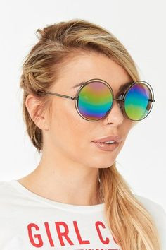 Make a statement this season and go bold with our range of accessories including sunglasses, handbags scarves and more. Olivia Buckland, Round Frame Sunglasses, Vintage Shirts, Things To Buy, Women's Accessories, Women Jewelry, Purple, Vietnam, Rainbow