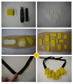 Neon statement necklace. | Operation DIY