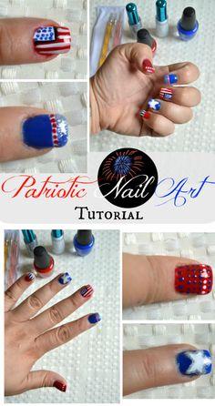 Patriotic Nail Art T