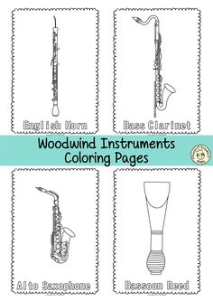 This resource contains 55 musical instrument coloring pages (individual images). Each page contains an instrument picture to color and name of the instrument. Instruments Of The Orchestra, Musical Instruments, Music Lesson Plans, Music Lessons, Name Coloring Pages, Colouring Sheets, Jesus Music, Music Activities, Preschool Activities